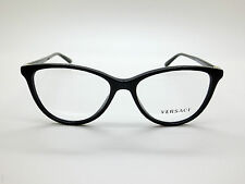 NEW Authentic VERSACE Mod. 3194 GB1 Black 52mm RX Eyeglasses