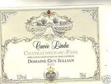 Etiquette de vin - CHATEAUNEUF DU PAPE - Cuvée Linda - Domaine Guy Jullian (166)