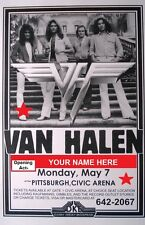 VAN HALEN - YOUR NAME OPENING ACT LARGE LAMINATED GLOSS POSTER