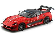 HOT WHEELS ELITE FERRARI 599XX 599 XX EVO #11 RED 1/18 DIECAST MODEL CAR BCJ91