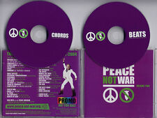 Peace Not War Volume Two 2004 UK 37-trk promo 2CD Faithless Sonic Youth Le Tigre