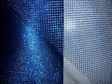 Navy Metallic Mesh/Net Fabric 135cm Wide. £3.99 Meter. Free UK delivery. Craft