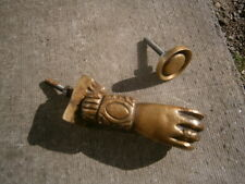 Architectural Antique Victorian Brass Hand And Ball Door Knocker