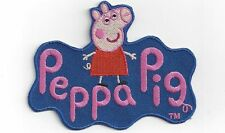"""Peppa Pig 3"""" large iron on badge / patch. School bag customise clothing mending"""