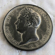 1830 DEATH OF GEORGE IIII 44mm WHITE METAL MEDAL - by f bain