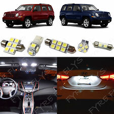 6x White LED lights interior package kit for 2007-2015 Jeep Patriot JP1W