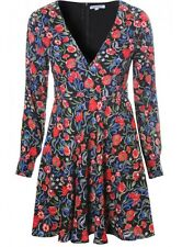 Glamorous Black And Red Poppy Print Dress UK Size 8 Box4343 C