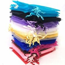 50X Mixed Organza Gift Bags Pouches Wedding Favour Candy Jewelry Bags Decor