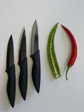 point-home Keramikmesser, Klingenschutz, schwarz, 3 x 100mm, NEU