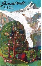 Original vintage poster GRINDELWALD GLACIER MOUNTAINS 1957