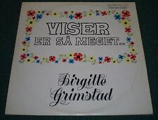 Viser Er Sa Meget Birgitte Grimstad~German Import Scandinavian Songs~FAST SHIP!
