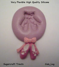 Ballerina Ballet Dance Shoes Silicone Mould, Sugarcraft, Cup Cake Card Topper