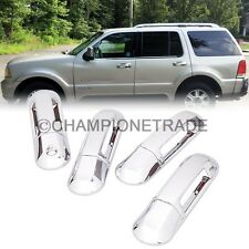 8Pcs Chrome Side Door Handle Covers for 02-10 Ford Explorer Lincoln Aviator CT