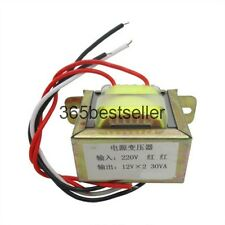 30W dual 12V 30W2*12V power transformer input 220V 50Hz/output 12V