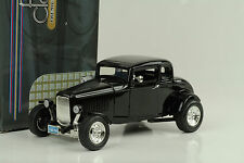1932 FORD 5 WINDOW HOT ROD CUSTOM BLACK NERO 1:18 Motormax