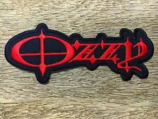 New RED OZZY OSBOURNE Embroidered Rock Band Iron On or Sew On Patch