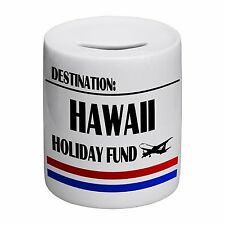 Destination Hawaii Holiday Fund Novelty Ceramic Money Box