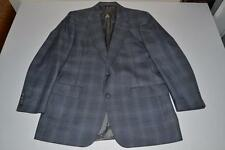 HART SCHAFFNER MARX HSM GRAY PLAID 2 BUTTON BLAZER COAT JACKET MENS SIZE 40R