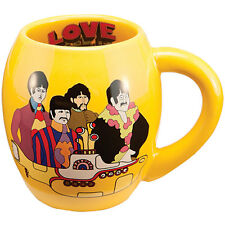 NEW Beatles Yellow Submarine Cartoon Image 18 Ounce Ceramic Oval Coffee Cup Mug