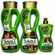 SAVILE Aloe + Argan Oil Shampoo & Conditioner & Hair Comb Cream Aceite De Argan