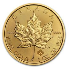 1 oz 2015 Gold Canadian Maple Leaf $50 BU