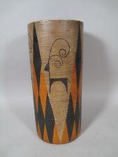 Vintage Mid Century Stoneware Ceramic Umbrella Stand Vase Raymor Italy Eames Era