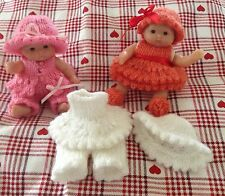 . * Knitting Pattern * per 5 pollici Berenguer o simili DOLL OUTFIT utilizza DK Lana