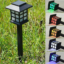 4 Pcs Outdoor Color Changing LED Solar Power Lights Lawn Landscape Path Way Lamp