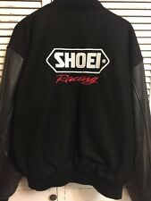Shoei Racing Embroidered Wool Leather Letterman Jacket Men's 2XL
