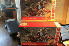 TRANSFORMERS AOE LEADER CLASS GRIMLOCK AND OPTIMUS PLATINUM MISB 2X