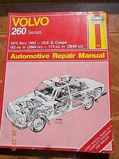 Haynes Repair Manual Volvo 260 Series GLE & Coupe 1975-82  162 & 174 cu.in.