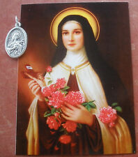 Separated Morning Offering of Saint St. Therese Holy Prayer Card & Medal