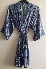 Ladies Satin Dressing Gown/Robe Uk Sizes 8-22 Various Colour And Print