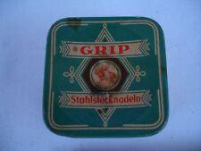 Alte Blechdose für Grip Stahlstecknadeln Nadeldose
