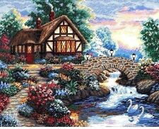 "Dimensions Gold Counted Cross Stitch Kit 14"" x 11"" ~ TWILIGHT BRIDGE Sale #35172"