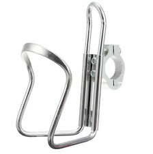 Silver Motorcycle Bike ATV 1'' Bar Can Cup Water Bottle Rack Holder with Adapter
