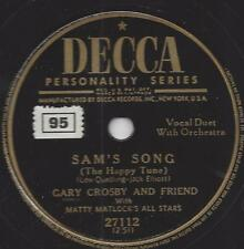 Bing Crosby und  sein Sohn Gary Crosby : Sams Song -The Happy Tune