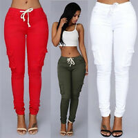 Womens Jeggings Size 6 16 Ladies Fit Skinny Coloured Stretchy Trousers Jeans