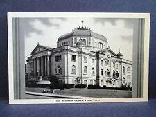 Postcard TX Paris First Methodist Church