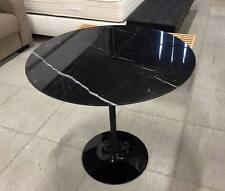 TAVOLO TULIP TONDO 107 CM MARMO NERO MARQUINIA  SAARINEN TABLE MADE IN ITALY