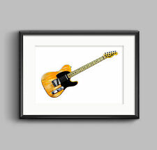Bruce Springsteen's 1950's Fender Esquire POSTER PRINT A1 size