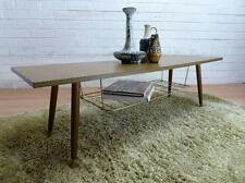 GrOoVy RETRO MID-CENTURY MODERN ATOMIC DANISH MAG RACK COFFEE TABLE 2 TIER