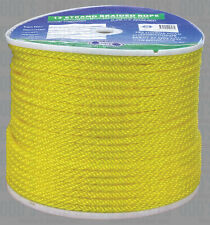 Rope 6mm Yellow Solid braid  rope x 200m