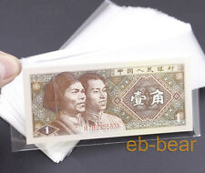 Wholesale lots 100 pcs currency sleeves holders banknotes note paper money 1#