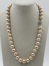 """Stunning Mimco Delicate 12mm Champagne southsea Shells Pearl Necklace 20"""""""
