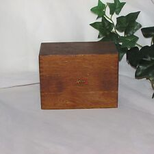 VINTAGE WEISS WOOD RECIPE BOX DOVETAIL CORNERS COUNTRY KITCHEN DECOR COLLECTIBLE