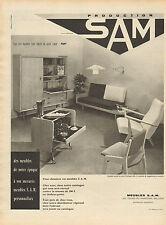 Publicité 1959  SAM  meubles d'époque sur-mesure