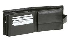 Geldbörse mit Außenverschluss für Damen & Herren LEAS in Echt-Leder, schwarz