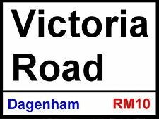 Dagenham and Redbridge Victoria Road Street Sign / Metal Aluminium / Football Fc