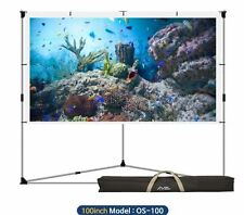 Outdoor Movie Projector Screen Screens Portable Mobile Large Backyard Camping